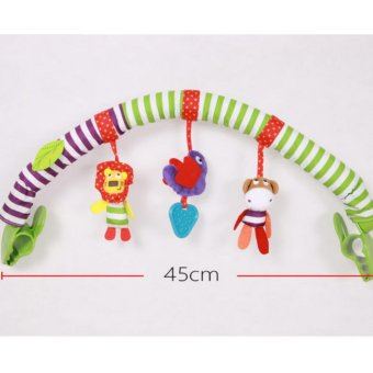 Buggy Stroller Bed Arch with Plush & Musical Toys - intl - 4