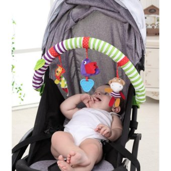 Buggy Stroller Bed Arch with Plush & Musical Toys - intl - 3