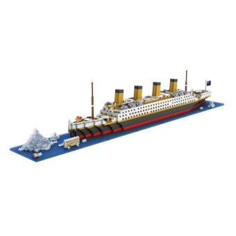 Building Blocks Toys RMS Titanic Ship 3D Building Blocks ToyTitanic Boat 3D Model Educational Gift Toy for Children