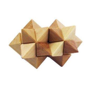 BUYINCOINS DIY Wooden Wood Intelligence Education Puzzle Lock Toy Christmas Gift 04