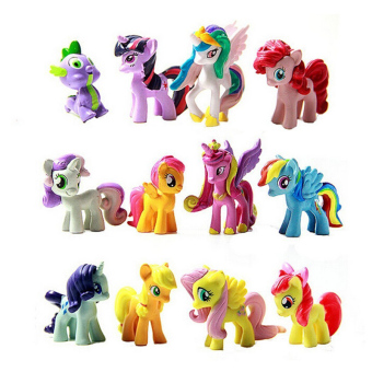 Buytra Figurines Playset for My Little Pony Kids Gift 12 Pcs
