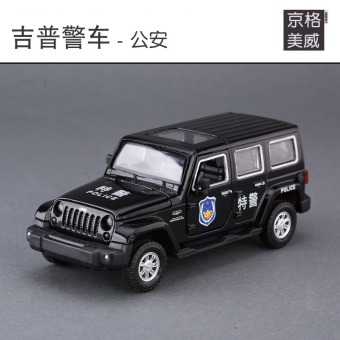 Caipo off-road JEEP model alloy car model police car
