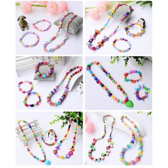 Candy Colors DIY Wear Beads for Bracelet Kids Toys Geometric ShapePersonalized Jigsaw Puzzle - intl - 3