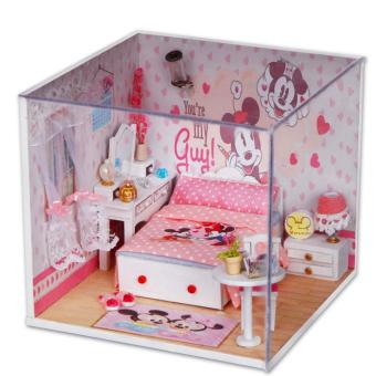 Candy Online Diy Wooden Small Doll Doll House Furniture Toy PuzzleModel Handmade Doll House Creative Gift -M001 House Clubhouse Price Philippines