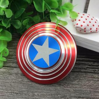 Captain America Metal Fidget Stress-Relieving Spinner