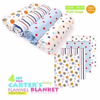Carter's Receiving Blanket set of 4's design for Baby Boys 100% cotton