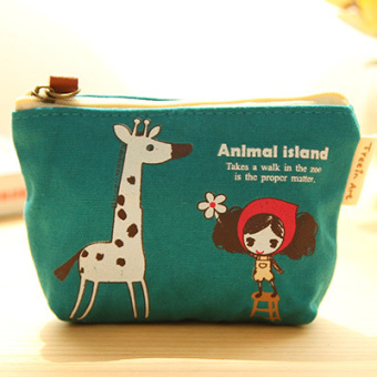 Cartoon canvas New style girl's mobile phone bag coin bag