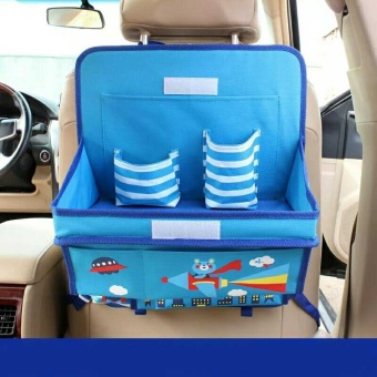 Cartoon Car Back Seat Child Dining Table Car Organizer OxfordStorage Box - intl