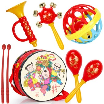 Cartoon children's hand music drum rattle