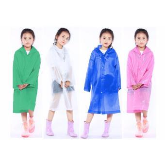 Cartoon Kids Rain Raincoat For Children Waterproof Rain CoatOutdoor Rainwear for boys and girls 6-12 years old - 2