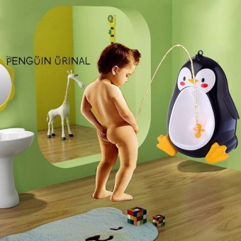 Cartoon Penguin Baby Potty Urinal Boy Children Training UrinalPlastic Toilet Pot For Baby Boy Toilet Trainer Baby Potty ToiletBlack
