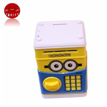 Cartoon Piggy Bank ATM Auto Scroll Password Electronic Money SavingBox Cute Minion Children Gift with Free Battery - 2