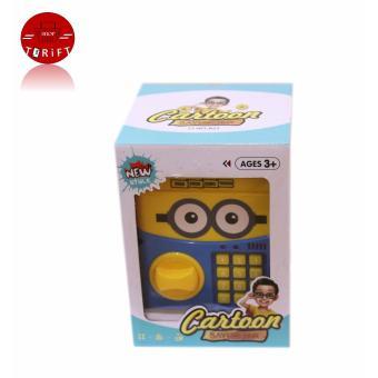Cartoon Piggy Bank ATM Auto Scroll Password Electronic Money SavingBox Cute Minion Children Gift with Free Battery - 3