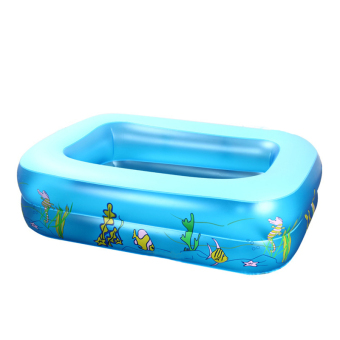 Cartoon Underwater World Pattern Inflatable Square Swimming Pool For Kids (Intl)