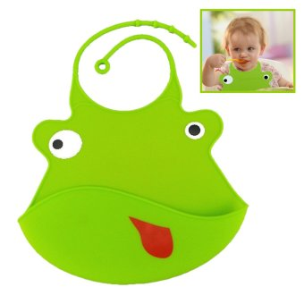 Cartoon Waterproof Food Grade Silicone Baby Bib Apron Green Price Philippines