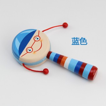 Cartoon wooden traditional rattles drum rattle