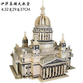 Castle wooden 3D adult puzzle