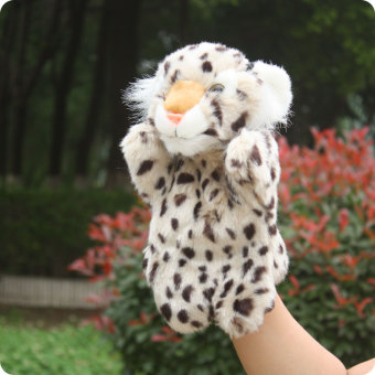 Catamount plush animal gloves mother pacify doll hand puppet