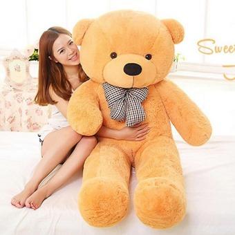 CatWalk Intimate Stuffed Animal Teddy Bear Plush Soft Toy 60CM(Light Brown) - 4