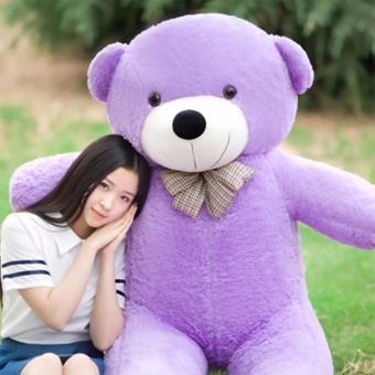 Chengyu Purple Stuffed Toys Animal Cute Teddy Bear Plush Soft Toy Birthday Present 100CM - intl