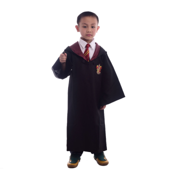 Children Harry Potter Costume Magic Robe Cloaks Robes Cosplay Size-M(Gryffindor)