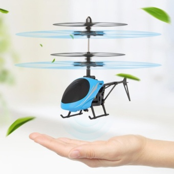 Children intelligent Toy Infrared Induction Helicopter Mini Flying Toys for Boys and Girls Christmas Gift ,Blue - intl