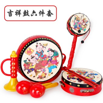 Children's Yi Zhi newborns music drum rattles