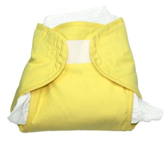 Chino Pino Cloth Diaper Cotton Nappy Starter with MicrobeProtekFluid Management System (Yellow) Price Philippines