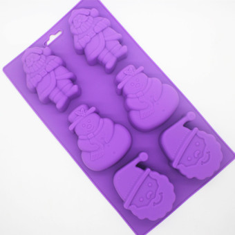 Chocolate snowman handmade soap silicone Mold