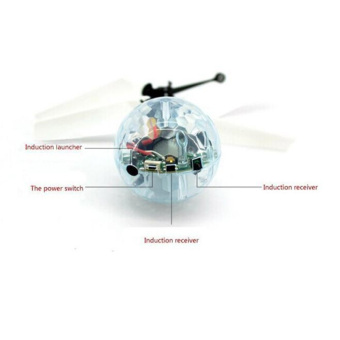 Christmas Gift Led Flying RC Helicopter Ball Children Toy Remote Control Flashing Light Aircraft Induction Boys Girls - intl - 5