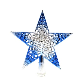 Christmas Tree Star Topper Ornament Party Decoration Xmas Decorations Stars Blue - intl