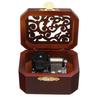 CLASSIC OCTAGON WOOD WIND UP MUSIC BOX:CASTLE IN THE SKY Price Philippines