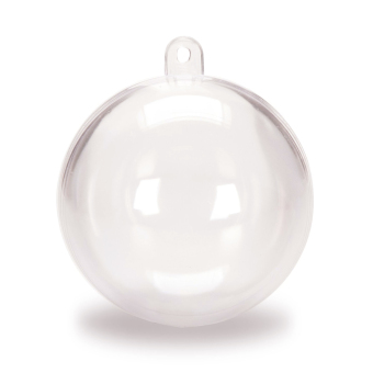 Clear Plastic Acrylic Fillable Christmas Ball Tree Ornament 80mm