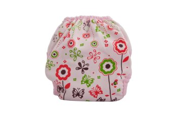 Cluebebe Reusable Pocket Diaper (Pink Flower) - picture 2