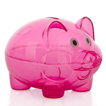 Cocotina Clear Lovely PIGGY Bank Coin Money Plastic Cash Openable Saving Box Kid Pig Gift - Green Price Philippines