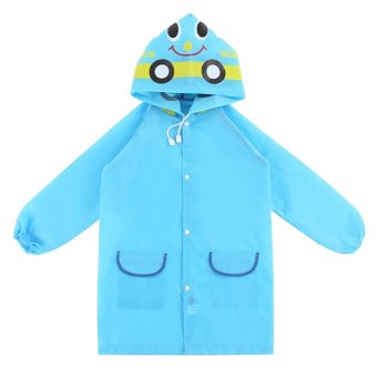Cocotina Smiling Face Raincoat (Blue)