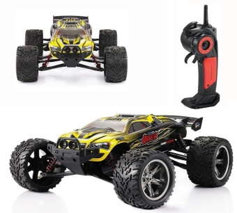 Colof 1/12 Full Proportional 2.4GHz 2WD Remote Control Off RoadMonster RC Hobby Truck 35MPH+ High Speed Radio Controlled ElectricTruggy Buggy Cars RTR(Yellow) - intl