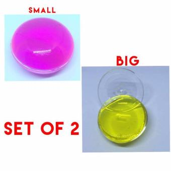 Colored Round Glittery Jelly Slime Pink and Yellow (Small/Big) Price Philippines