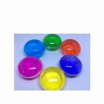 Colored Round Glittery Jelly Slime set of 2 Violet and Green(Small/Big)