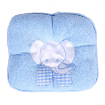 Comfy Elephant Baby Infant Pillow Prevent Flat Head (Blue) - intl