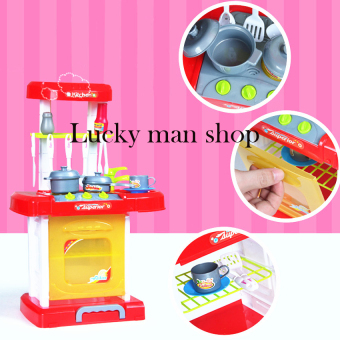Cooking Toy Play Set with Light and Sound Educational Learning Toy Red