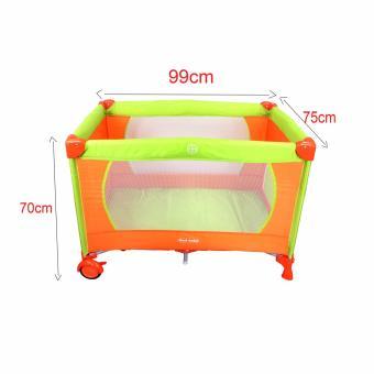 Cool baby Crib Nursery Play yard Playpen Baby gear ORANGE - 3