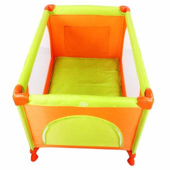 Cool baby Crib Nursery Play yard Playpen Baby gear ORANGE - 2