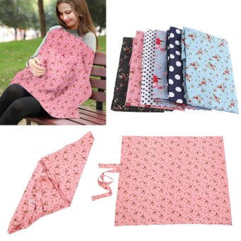 Cotton Baby Breastfeeding Napkin Privacy Nursing Cover Shawl Cloth(Pink Cherry) - intl