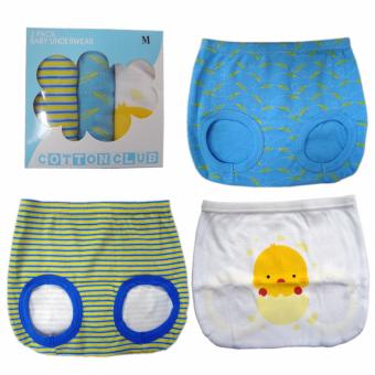 Cotton Club Baby Diaper Cover for boy w/ Chick Design - size -Medium