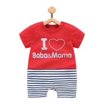 Cotton girl's thin male baby coveralls Baobao romper