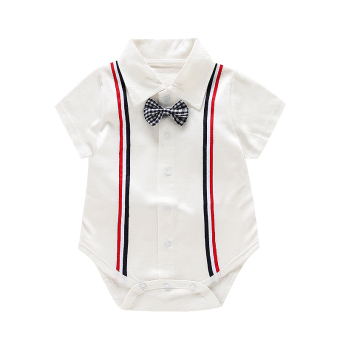 Cotton newborns gentleman models crawling clothes onesie