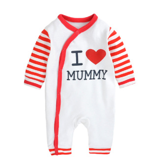 Cotton Spring and Autumn long-sleeved thin pajamas baby leotard