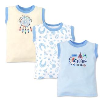 Cotton Stuff - 3-piece Muscle Shirt (Little Chief) 9-12 Months