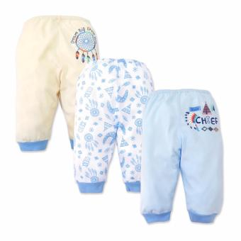 Cotton Stuff - 3-piece Pajama Pants (Little Chief) 6-9 Months